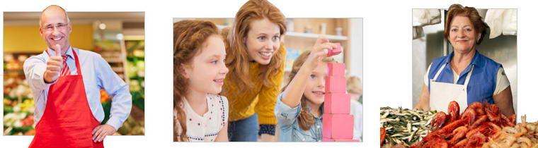 commercianti e scuola materna