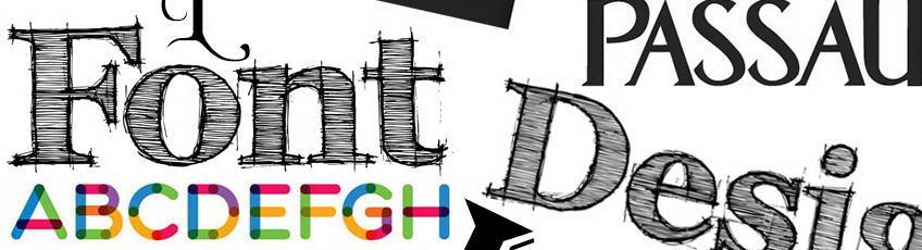 uso dei font per creare un logo