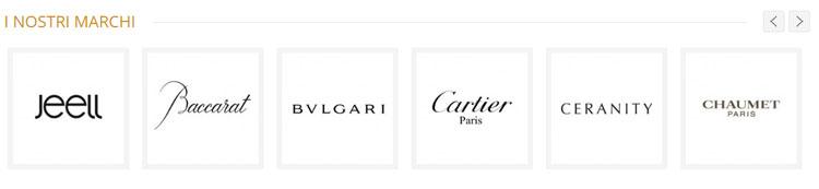 loghi di marchi che vengono inseriti in un sito di e-commerce