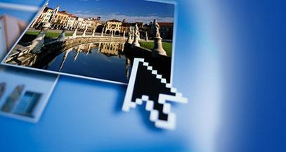 Freccia mouse con immagine del prato della valle di Padova