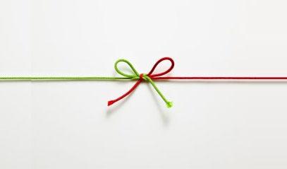 nodo tra due lacci uno verde e uno rosso: simboleggiano il legame tra gestionali e web