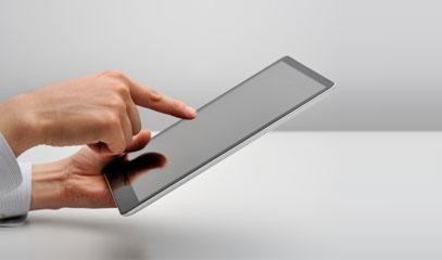 Uso del tablet per lavorare con le web app
